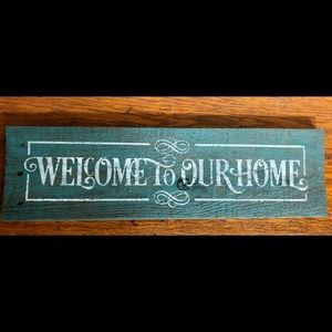 Rustic Weathered Farmhouse Sign Welcome To Home